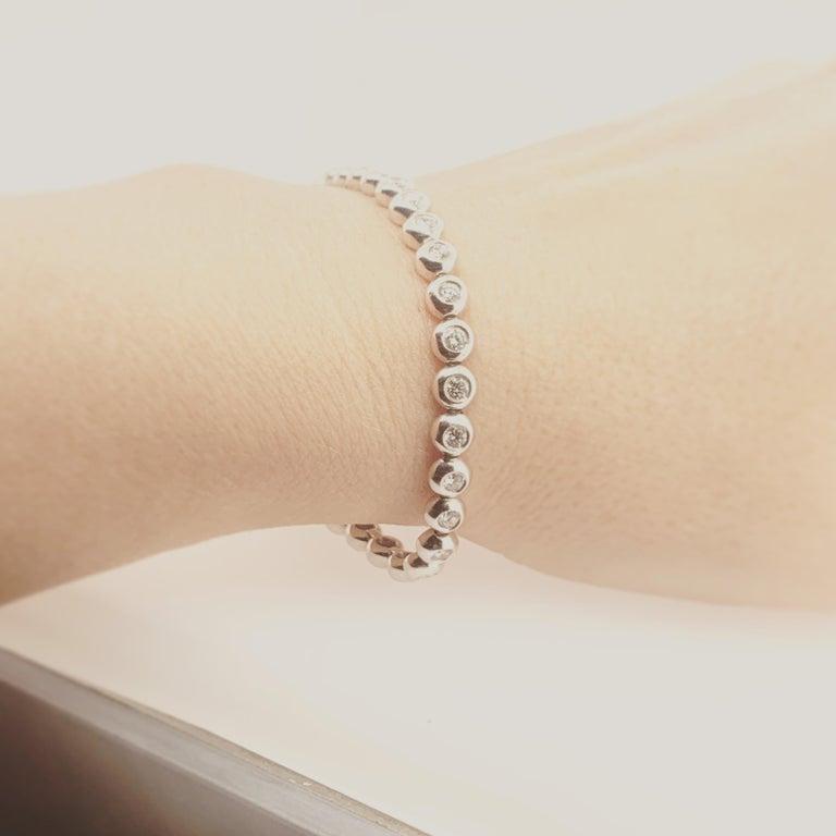 Women's Tiffany & Co. Diamond White Gold Riviere Bracelet For Sale