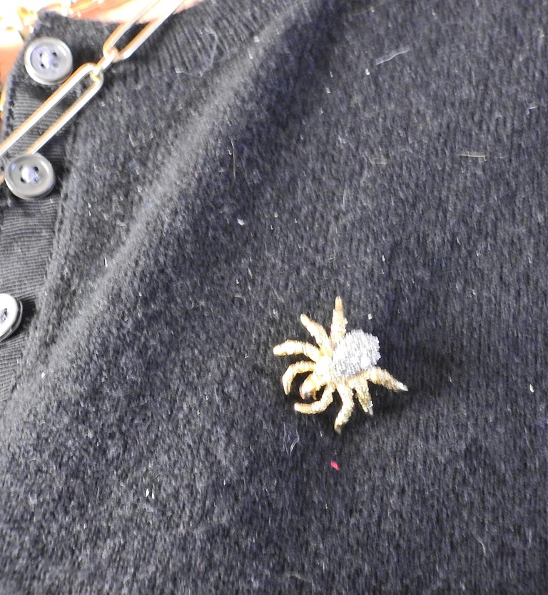 Tiffany & Co Diamond Gold Spider Brooch Pin In Excellent Condition For Sale In Boca Raton, FL
