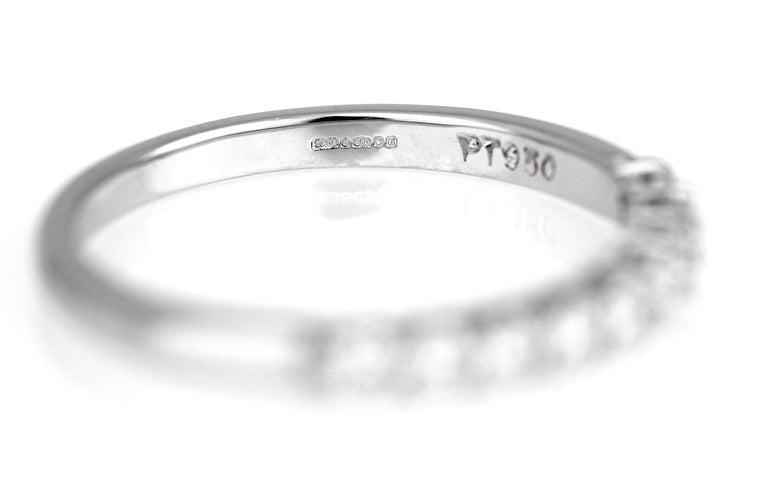 Women's Tiffany & Co. Diamond Half Eternity Ring in Platinum, British Hallmarked