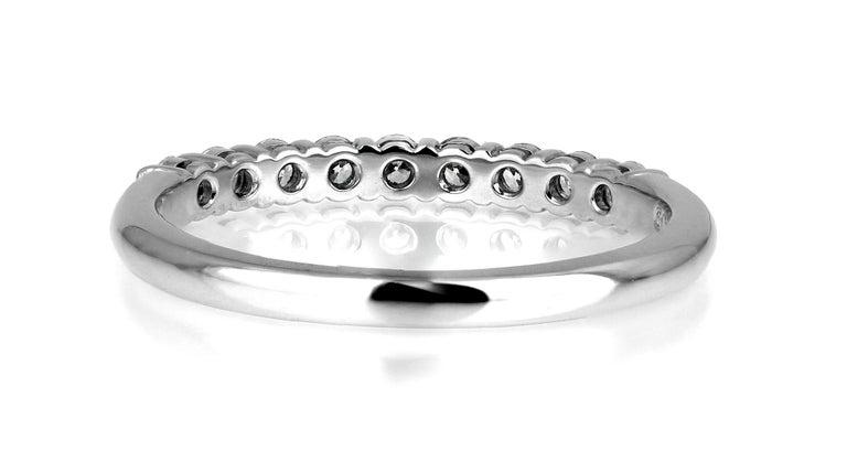 Tiffany & Co. Diamond Half Eternity Ring in Platinum, British Hallmarked