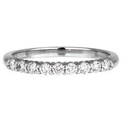 "Tiffany & Co. Diamond Half Eternity Ring in Platinum, British Hallmarked ""T&Co"""