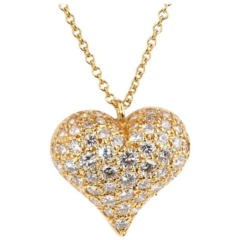 d9e404b0c75d0 Tiffany & Co. Diamond Heart Gold Necklace