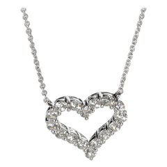 Tiffany & Co. Diamond Heart Necklace in Platinum 0.54 Carat