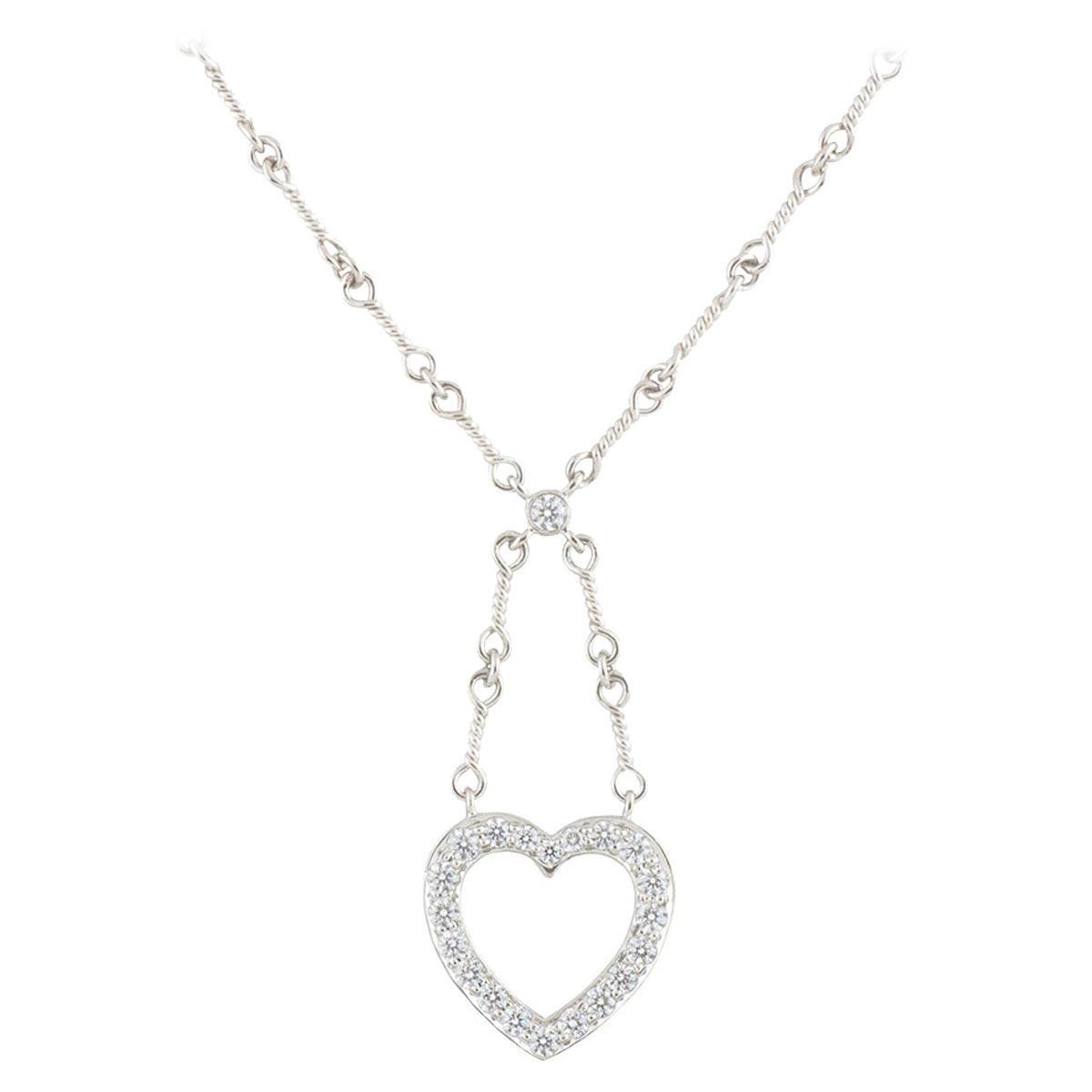 Tiffany & Co. Diamond Heart Pendant .65 Carat