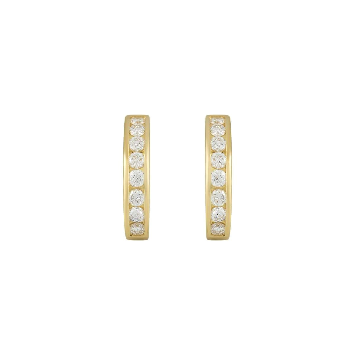 Tiffany & Co. Diamond Hoop Earrings 0.96 Carat