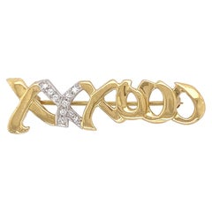 Tiffany & Co. Diamond Hugs & Kisses Pin