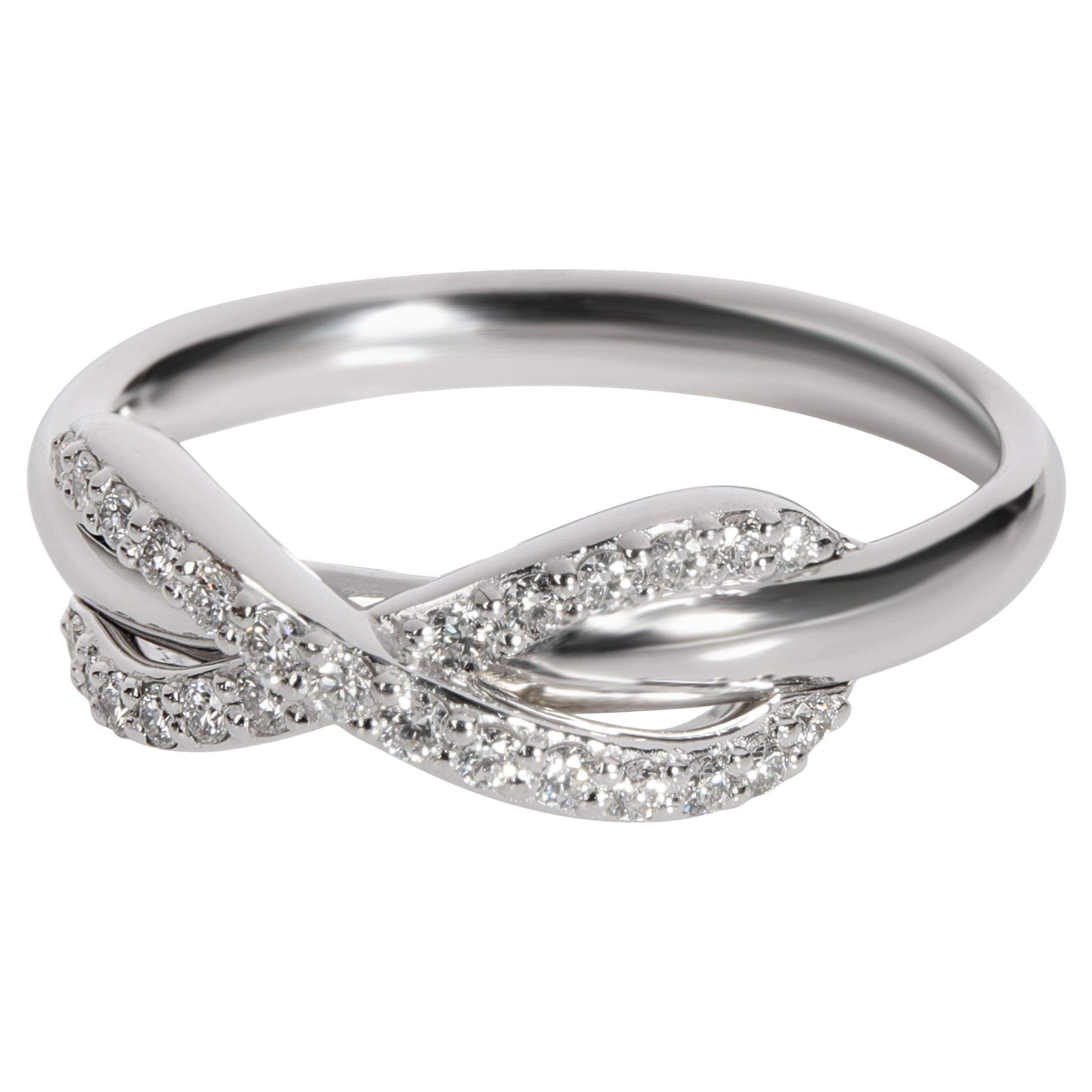 Tiffany & Co. Diamond Infinity Ring in 18k White Gold 0.13 CTW