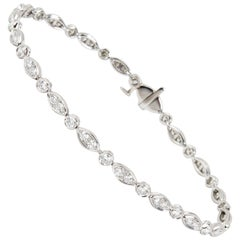 Tiffany & Co. Diamond Jazz Bracelet in Platinum '1.60 Carat'