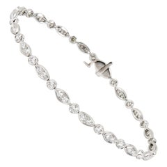 Tiffany & Co. Diamond Jazz Bracelet in Platinum 1.60 Carat