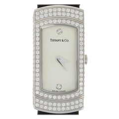 Tiffany & Co. Diamond Ladies Watch, 18K Gold Quartz 2 Yr. Warranty w/Box .80Ctw