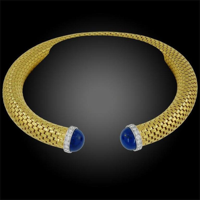 Women's Tiffany & Co. Diamond Lapis Lazuli Choker Necklace For Sale