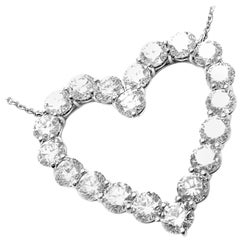 Tiffany & Co. Diamond Large Platinum Heart Necklace