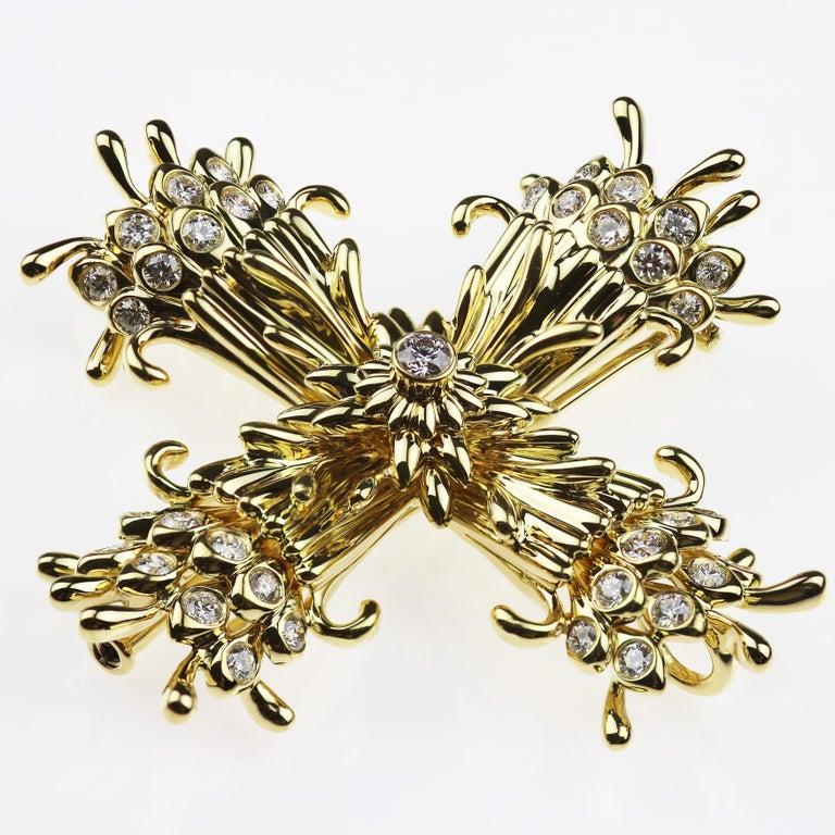 e9a20d315 Modern Tiffany & Co. Schlumberger Diamond Maltese Cross Clip-Brooch/Pendant  18K Gold