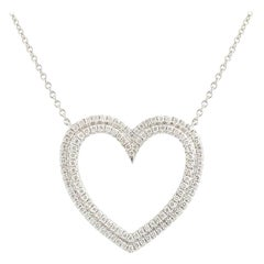 Tiffany & Co. Diamond Metro Collection Heart Pendant