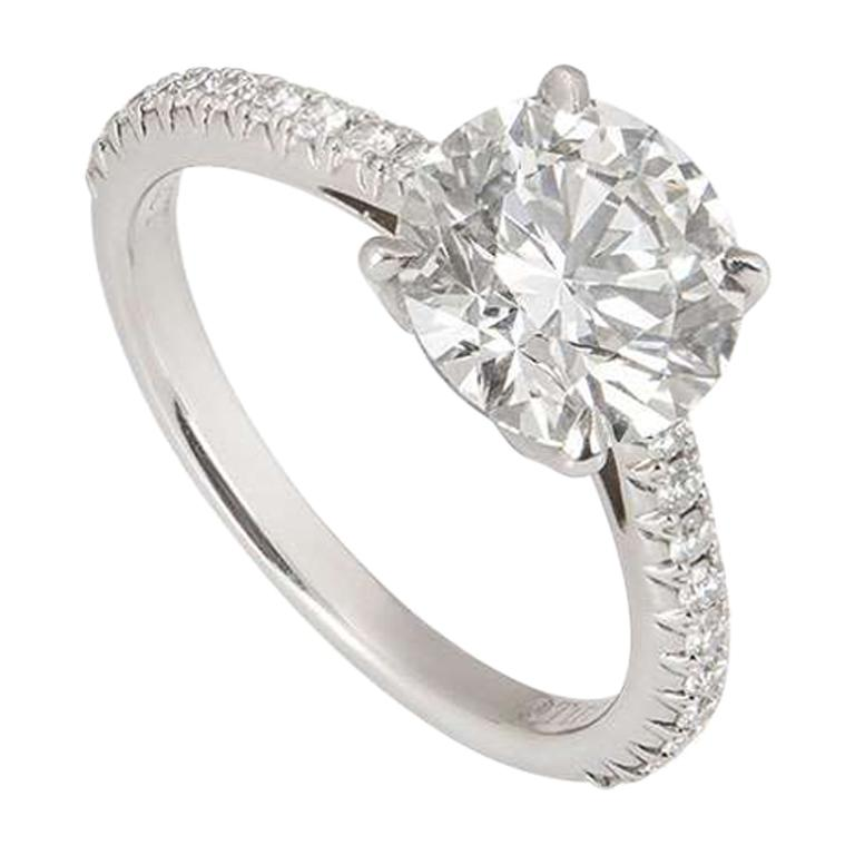 Tiffany And Co Diamond Novo Engagement Ring 1 72 Carat Triple
