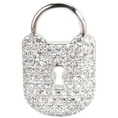 Tiffany & Co. Diamond Padlock Charm in Platinum