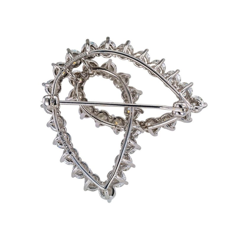 Tiffany & Co. Diamond Platinum Brooch In Good Condition For Sale In Los Angeles, CA