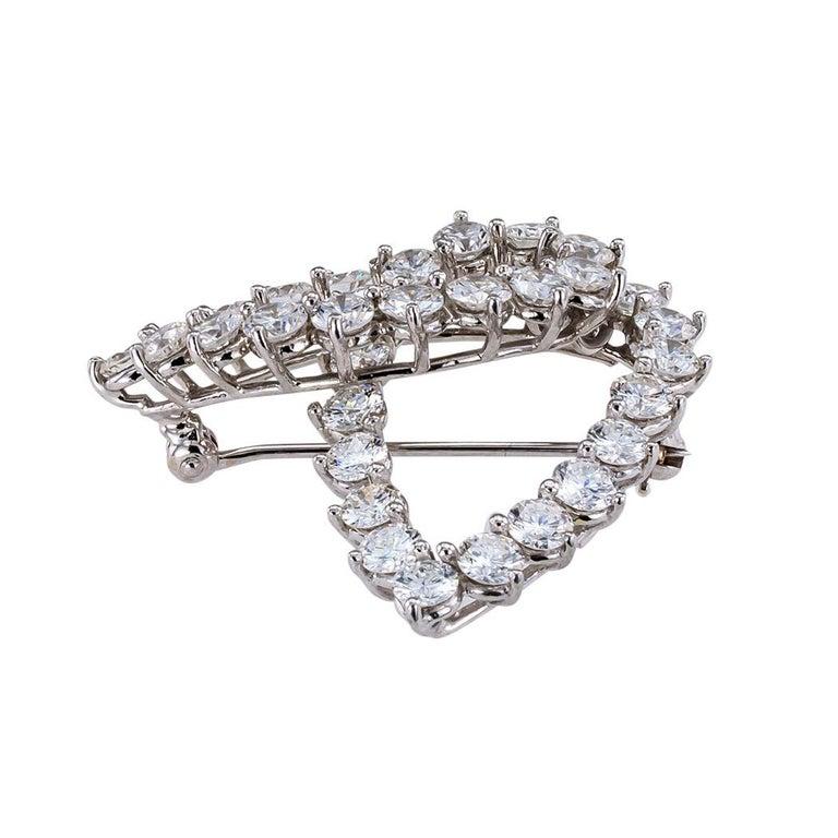 Women's Tiffany & Co. Diamond Platinum Brooch For Sale