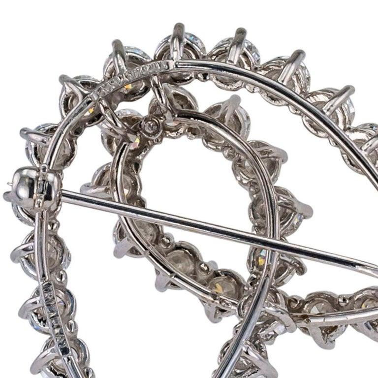 Tiffany & Co. Diamond Platinum Brooch For Sale 1