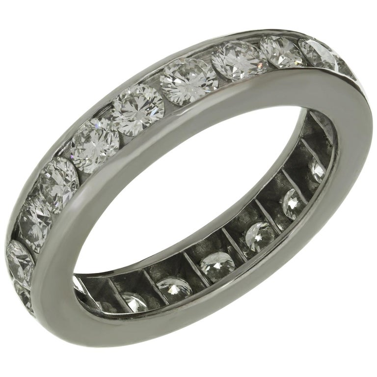 Tiffany & Co. Diamond Platinum Eternity Band Ring For Sale
