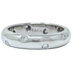 Tiffany & Co. Diamond Platinum Etoile Band Ring