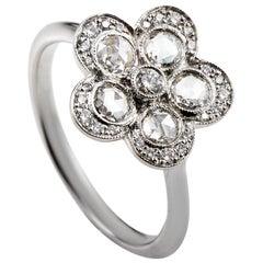 Tiffany & Co. Diamond Platinum Flower Ring