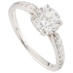 Tiffany & Co. Diamond Platinum Harmony Ring 1.05 Carat