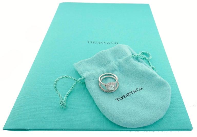 Tiffany & Co. Diamond Platinum Soleste Ring and Wedding Band 6