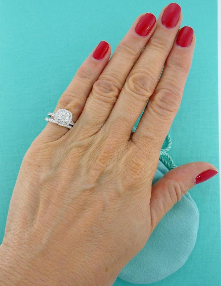 Women's Tiffany & Co. Diamond Platinum Soleste Ring and Wedding Band