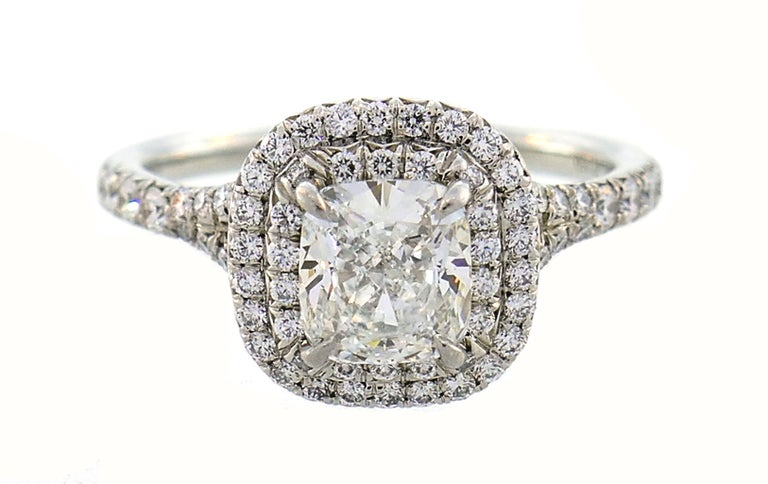 Tiffany & Co. Diamond Platinum Soleste Ring and Wedding Band 1