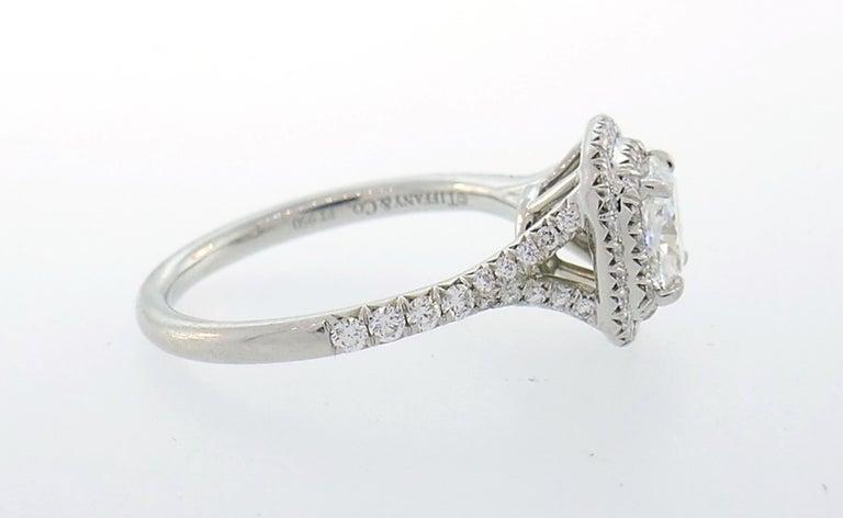 Tiffany & Co. Diamond Platinum Soleste Ring and Wedding Band 2