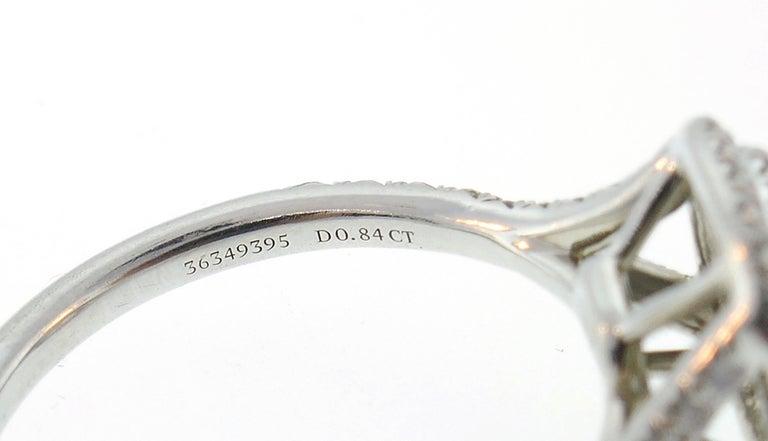 Tiffany & Co. Diamond Platinum Soleste Ring and Wedding Band 3