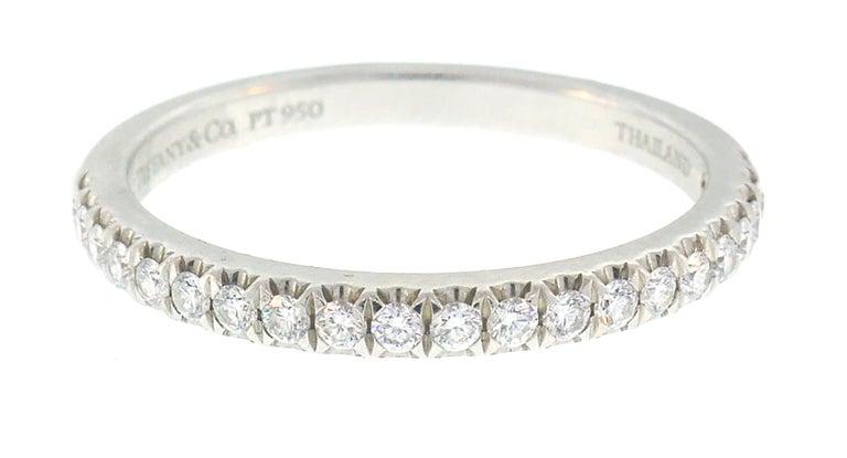 Tiffany & Co. Diamond Platinum Soleste Ring and Wedding Band 4
