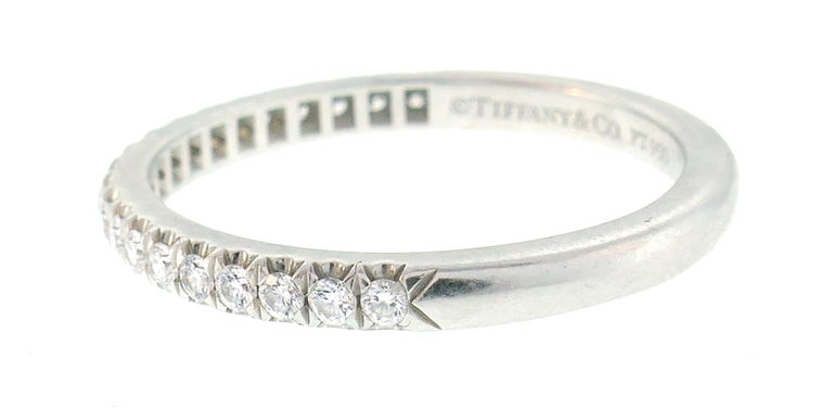 Tiffany & Co. Diamond Platinum Soleste Ring and Wedding Band 5