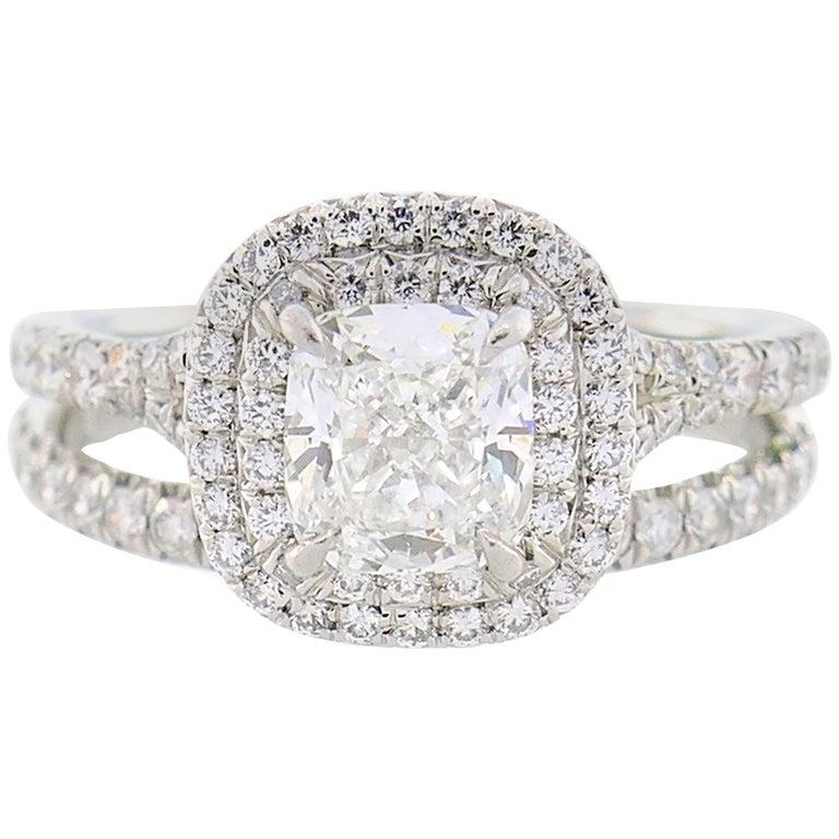 Tiffany & Co. Diamond Platinum Soleste Ring and Wedding Band