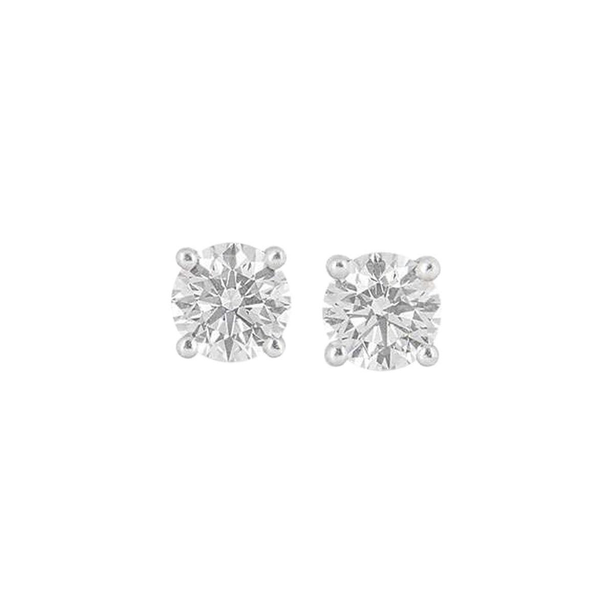 Tiffany & Co. Diamond Platinum Stud Earrings2.02 Carat