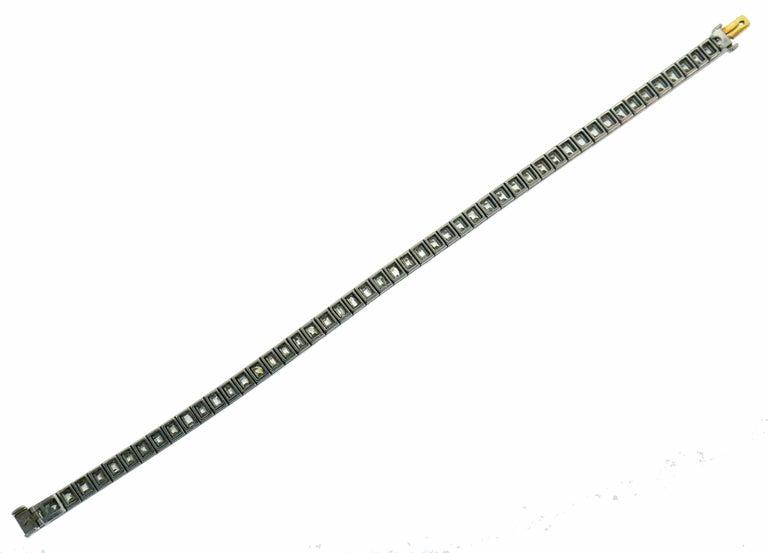 Tiffany & Co. Diamond Platinum Tennis Line Bracelet, 1950s For Sale 2