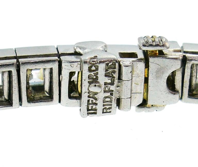 Tiffany & Co. Diamond Platinum Tennis Line Bracelet, 1950s For Sale 3