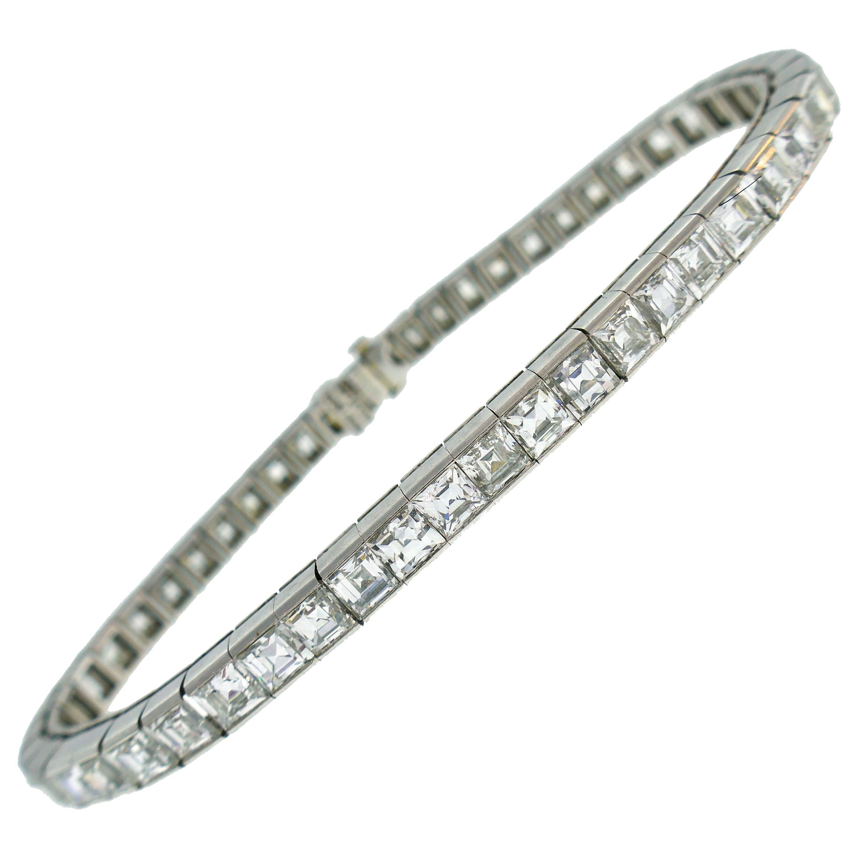 Tiffany & Co. Diamond Platinum Tennis Line Bracelet, 1950s