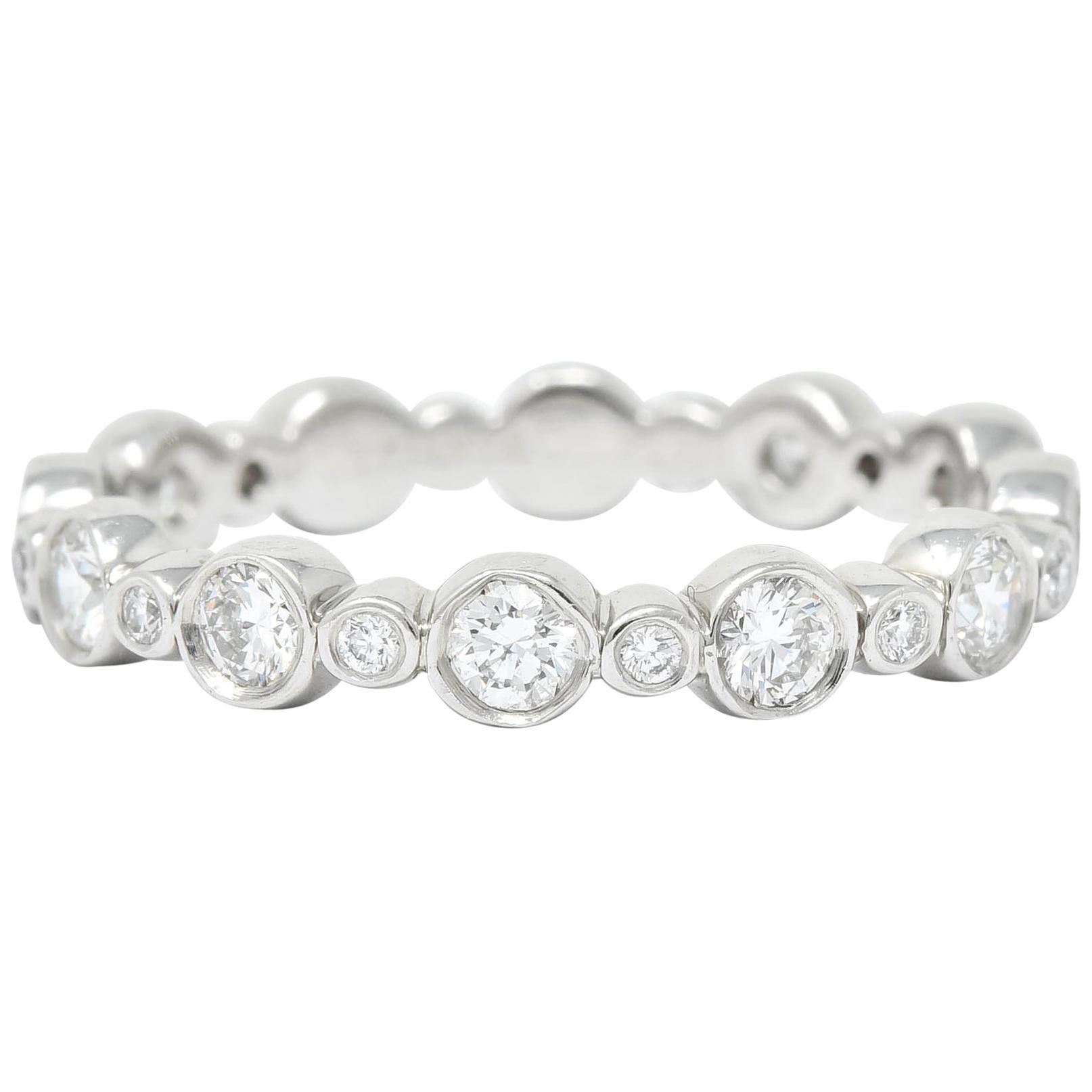 Tiffany & Co. Diamond Platinum Tiffany Jazz Band Stacking Ring