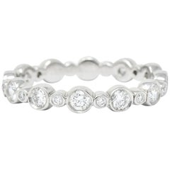 Tiffany & Co. Diamond Platinum Tiffany Jazz Band Stacking Ring