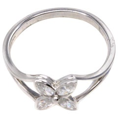 Tiffany & Co. Diamond Platinum Victoria Ring