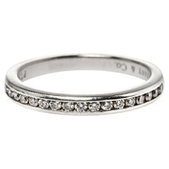 Tiffany & Co. Diamond Platinum Wedding Band Ring Size 50