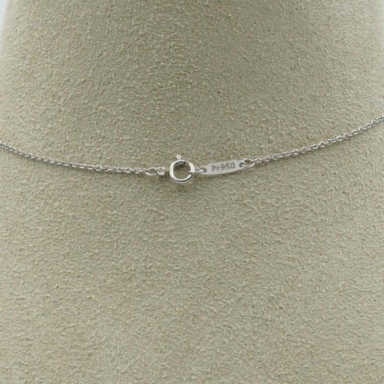 Tiffany & Co. Diamond & Sapphire Cobblestone Medallion Pendant in Platinum For Sale 2