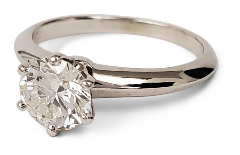 Round Cut Tiffany & Co. Diamond Solitaire Engagement Ring For Sale