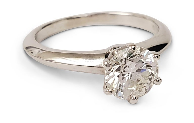 Tiffany & Co. Diamond Solitaire Engagement Ring In Excellent Condition For Sale In New York, NY