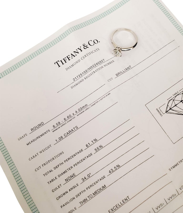Women's Tiffany & Co. Diamond Solitaire Engagement Ring For Sale
