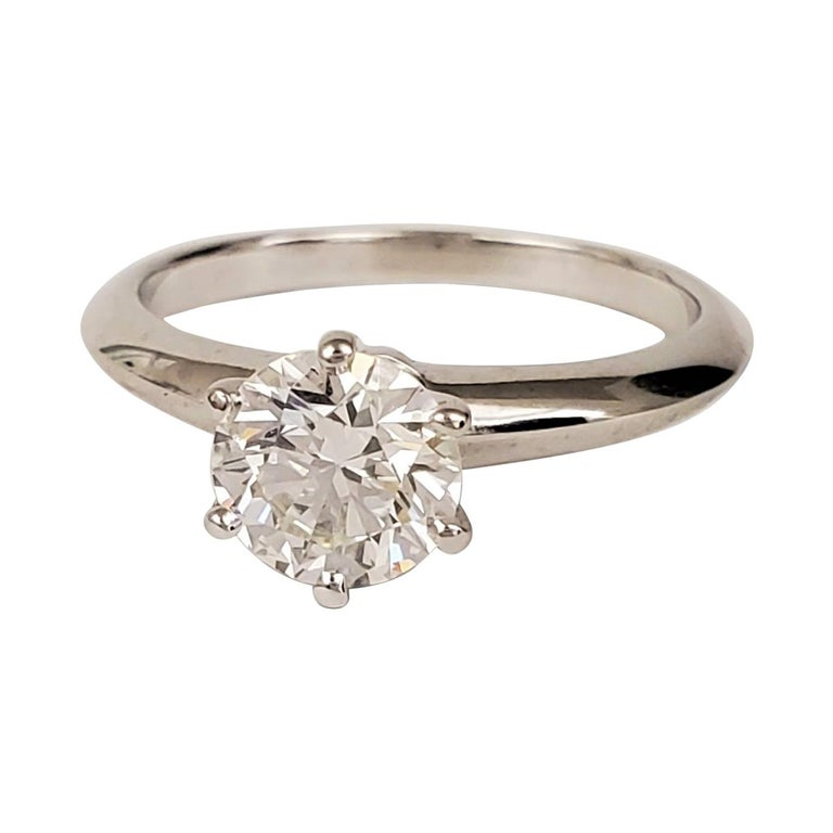 Tiffany & Co. Diamond Solitaire Engagement Ring For Sale