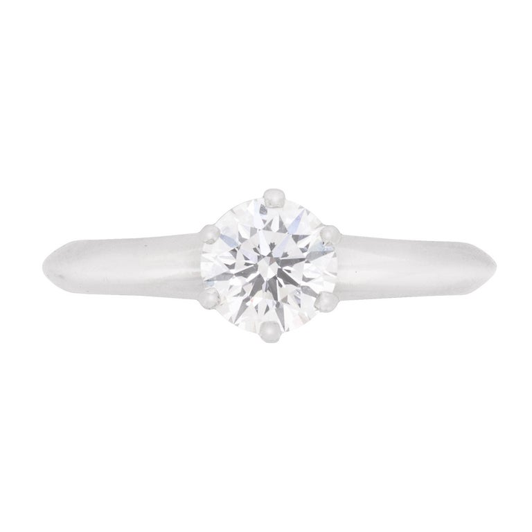 6792e4606 Tiffany and Co. Diamond Solitaire Engagement Ring For Sale at 1stdibs