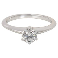 Tiffany & Co. Diamond Solitaire Engagement Ring in Platinum '0.48 Carat E/VVS1'